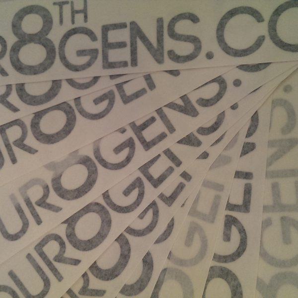 "10"" Black Our8thGens Logo Sticker"